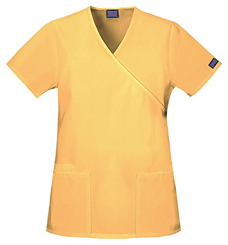 Cherokee Workwear Women's Mock Wrap Side Slits (Cherokee Two Pocket Tunic)