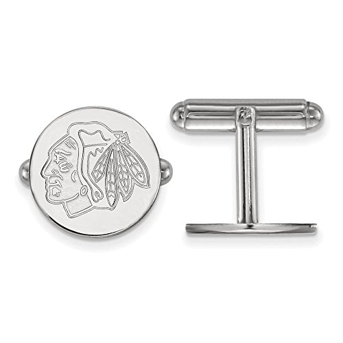 Chicago Blackhawks Cuff Links (Sterling Silver)