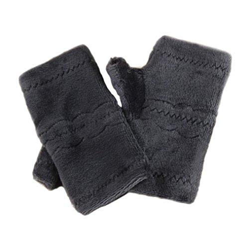 等価咳ソースtaore冬秋厚手暖かい手袋キーボードリーク半指手袋