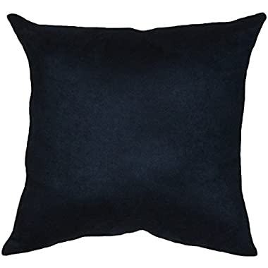 Microfiber Faux Suede Navy, 18 x18  Decorative Throw Pillow Cover with Matching Hidden Zipper; Fully Assembled in the U.S.A.