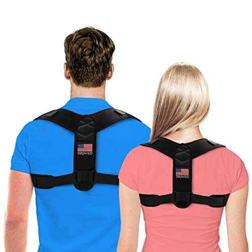 TRUWEO Posture Corrector for Men and Women - USA Designed Upper Back Brace for Clavicle Support and Providing Pain Relief from Neck, Back & -