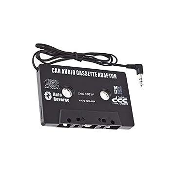 REFURBISHHOUSE Adaptador de Cinta de Casete Negro de Coche para MP3 iPod Nani CD MD: Amazon.es: Coche y moto