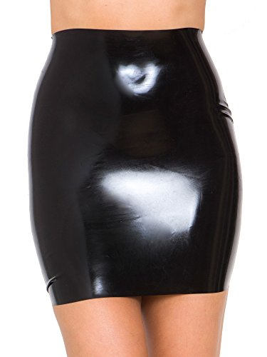 Raw Moulded Rubber Women's Skirt in Noir Size EU 40 (M)