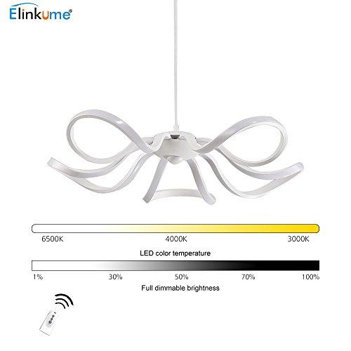 Lampe En Acrylique Plafonnier Led Elinkume Suspension c3RL54Ajq