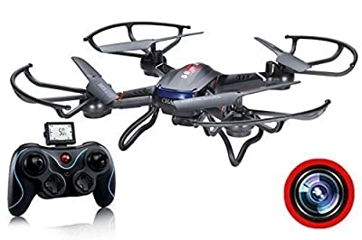ZeliCopters RC Quadcopter Drone with HD Video Camera RTF 4CH 2.4GHz 6-Gyro Headless System (A Key Back) Remote Control Quadcopters Drones (Color May Vary ) by DFD