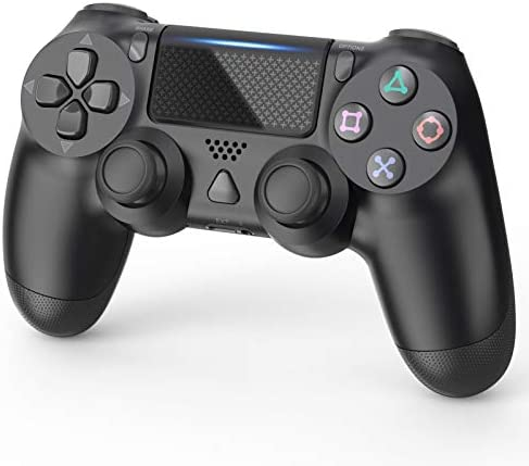 Gamepad Compatible with PS4/Pro/Slim Wireless Controller Built-in Speaker Dual Vibration and 6-Axis Gyro (Black)