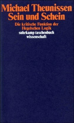 By Michael Theunissen - Sein und Schein (1994-01-16) [Paperback]