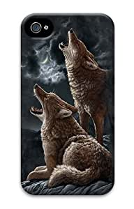Howling Coyotes 2 PC Case Cover for iPhone 4 and iPhone 4s 3D