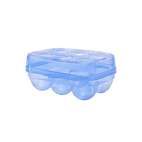 JAMOR 6Grid Egg Storage Box Refrigerator Crisper Egg Protection Box Portable Egg Carriage Container For Camping Picnic Essential ()