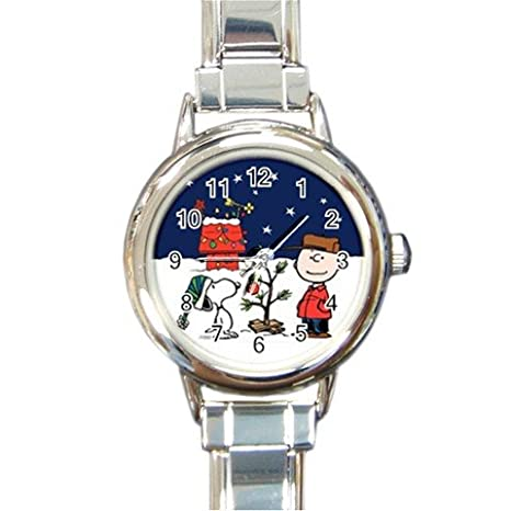 Watch Charlie Brown Christmas.Snoopy Charlie Brown Christmas Party The Peanuts Round Italian Charm Watch