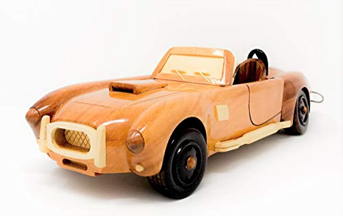 - Shelby Cobra Replica car and Truck Model Hand Crafted with Real Mahogany Wood