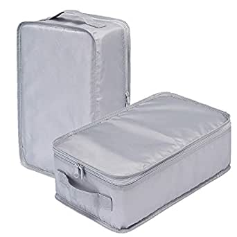 JJ POWER Travel Packing Cubes, Luggage Organizers with Shoe Bag (2 Grey Shoe Bags)