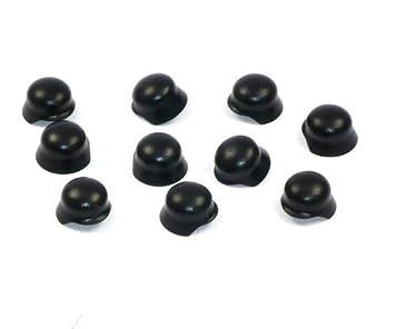 10 Custom Soldados CASCOS DE ACERO para Figuras Lego Negro CASCO Ww2 Soldado 10-pc