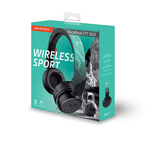 Plantronics BackBeat FIT 500 On-Ear Sport Headphones, Wireless Headphones with Sweat-Resistant Nano-Coating Technology by P2i, Teal by Plantronics (Image #4)