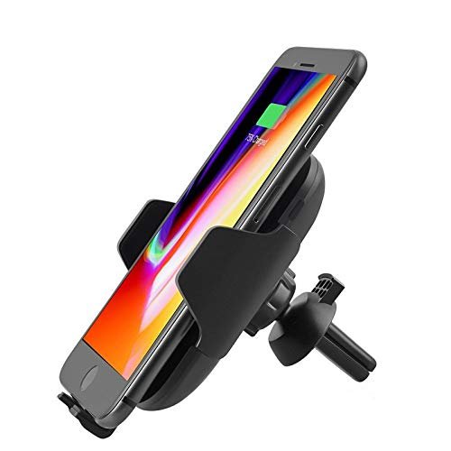 CZWXCDQ Wireless Charger Fast Car Wireless Charger Infrared Sensor Air Vent Phone Mount Holder Cradle for S8 S9 for iPhone 8 X Quick Charger