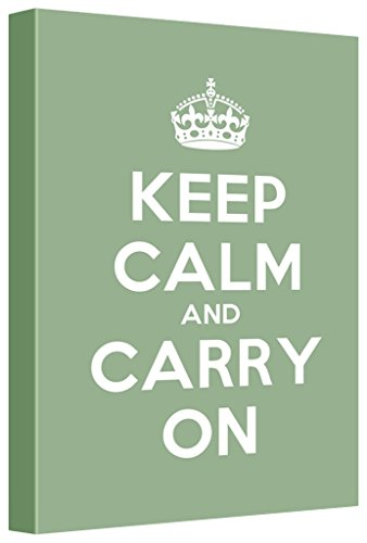 Gallery Keep Calm Carry on Stretched Olive Home Décor 12 L X 18 W Green