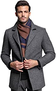 RIONA Men's Winter Cashmere Feel Australian Wool Soft Warm Knitted Scarf with Gift