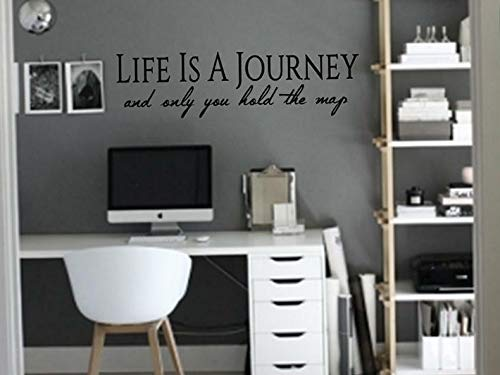Waldenn Life is A Journey ONLY You Hold The MAP Wall Decal Quote Words Lettering Decor | Model DCR - 1949