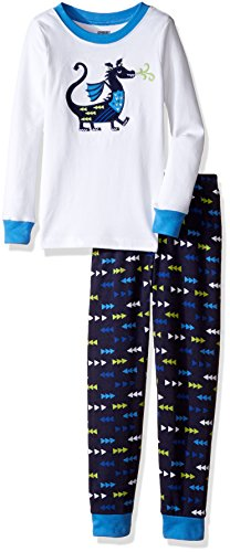 Gymboree Big Boys Graphic Top  Striped Bottom Tight Fit Sleep  Dragon Blue  3