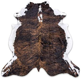 rodeo Brown Brindle Cowhide Rug 5×7