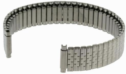 US Jewels And Gems New Ladies 10mm - 14mm Elastic Stainless Steel Watch Bracelet Band
