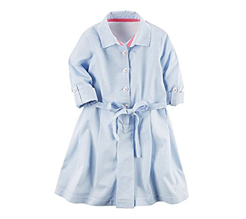 Striped Blue Carter's Dress Girls' 2T Poplin 8 wwYtpq8