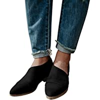 fisace Womens Casual Slip-On Loafer punta Toe Cut Out Slip On Oficina Casual Dressy tobillo arranque