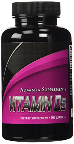 Advanta Supplements Vitamin D3 5,000 IU, 90 (Premier Labs Liquid Vitamin D)