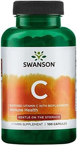 Swanson Buffered Vitamin C w/Bioflavonoids 500 Milligrams 100 Capsules