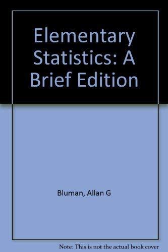 Elementary Statistics: Workbook A Brief Edition