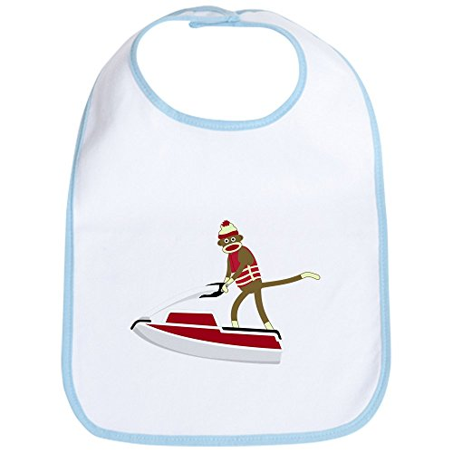 - CafePress - Sock Monkey Jet Ski Baby Bib - Cute Cloth Baby Bib, Toddler Bib