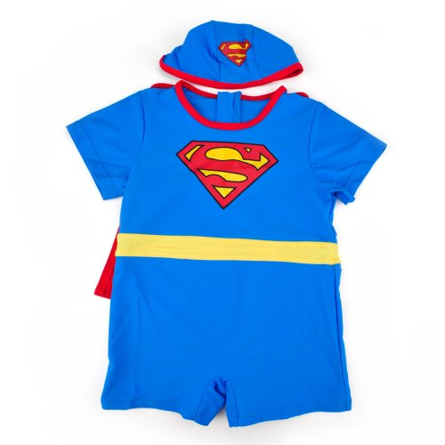 TopTie Toddler Boys' Superman Swimsuit /Bath Suit /Costume, One-Piece Swimwear SIZE2 (Superman Infant And Toddler Costume)