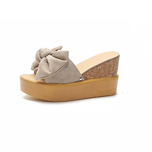 Flops Sandals Beige Slippers Thongs Flip Platform Sandals Bohemia Slippers pit4tk Wedge Beach vapWUqq6w