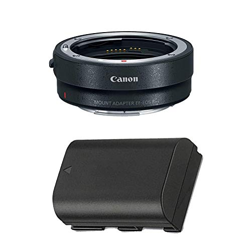 Canon Mount Adapter EF-EOS R with Replacement LP-E6N Lithium-ion Battery Pack for Canon EOS R Mirrorless DSLR Camera