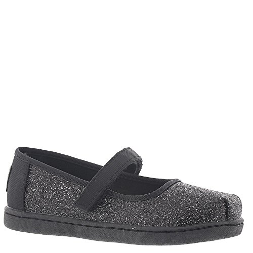 (TOMS Kids Baby Girl's Mary Jane (Infant/Toddler/Little Kid) Black Iridescent Glimmer 5 M US Toddler)
