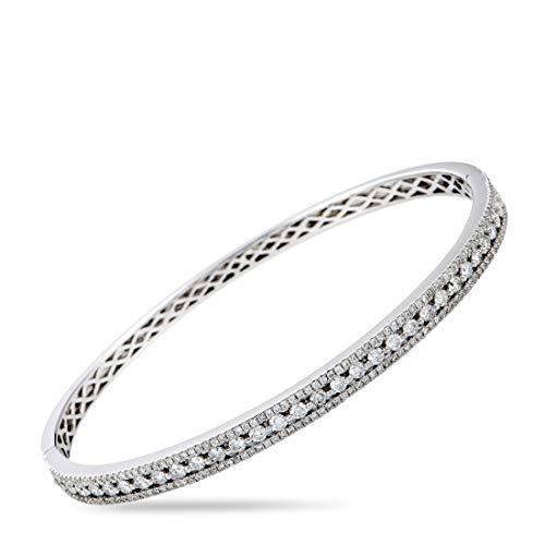(Odelia LB Exclusive 18K White Gold Diamond Pave Bangle Bracelet)