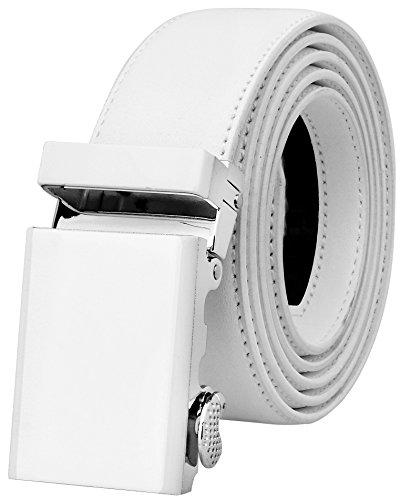 Falari Genuine Leather Dress Ratchet Belt Automatic Buckle Holeless Adjustable Size (Fit up to 44