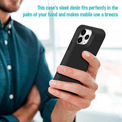 Battery Case for iPhone 11 Pro Max, Upgraded 6500mAh Portable Charging Case Protective Charger CaseExtended Battery Pack for iPhone 11 Pro Max [6.5 inch]-Black