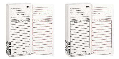 New-Acroprint 099111000 - Time Card for Es1000 Electronic Totalizing Payroll Recorder, 100/Pack - ACP099111000, 2 Packs (Recorder Totalizing Payroll Time)