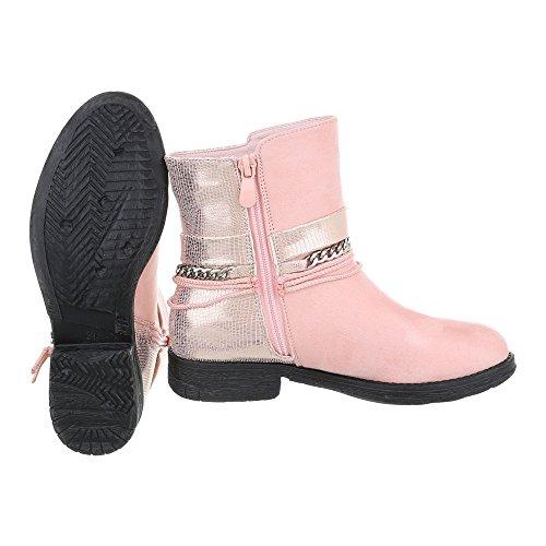 Ital-Design - botas estilo motero Mujer Rosa A-58