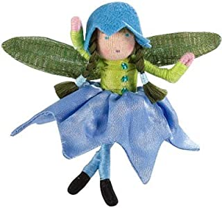 product image for Blooming Mini Fairy Posable Doll with Iridescent Wings, Bluebell in Blue