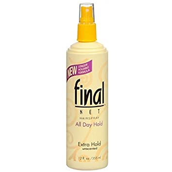 Final Net Hairspray All Day Hold Extra Hold Unscented 8 oz (Pack of 6)