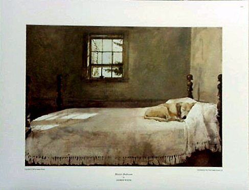 small-print-andrew-wyeth-lab-master-bedroom-dog-on-bed