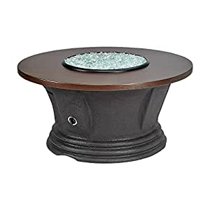 "Fire Pit American Fire San Simeon Round Fire Pit With 48"" Hammered Copper Top FCPAFP-SAN-RDCOP-48"