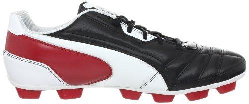 Tacchetta da calcio universale R HG da uomo, nero / bianco / rosso nastro, 8 D US