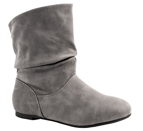 Botas plisadas gris Botas Elara gris Mujer plisadas Elara Mujer xCt8xXq