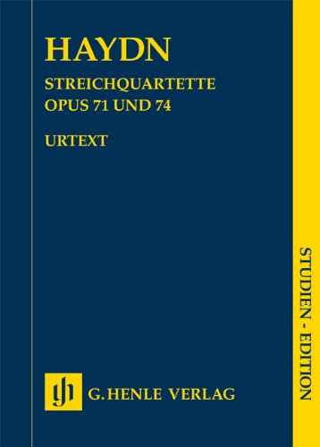 Streichquartette Heft IX op. 71 und 74