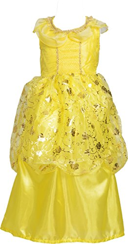 Disney Princess Belle Deluxe Costumes For Women (Princess Belle Costume Dress Up for Little Girls Size M 3-5)
