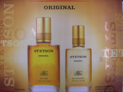 Stetson by Coty for Men 2 Piece Set Includes: 1.5 oz Cologne Splash + 0.75 oz After Shave Splash