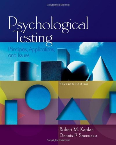 Psychological Testing: Principles, Applications, and Issues (PSY 430 Intimate Relationships)